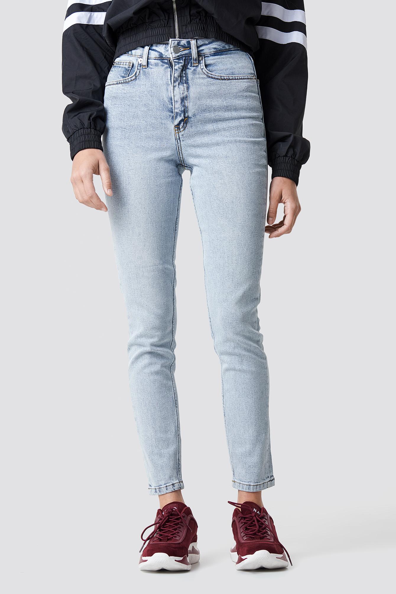 High Rise Slim Fit Jeans NA-KD.COM