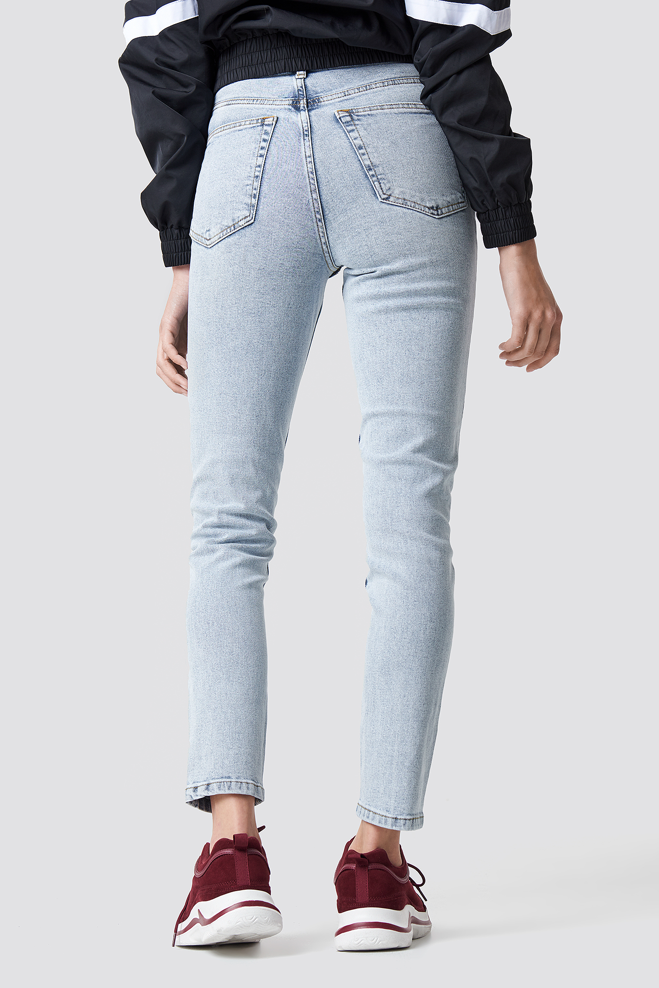 Light Blue High Rise Slim Fit Jeans