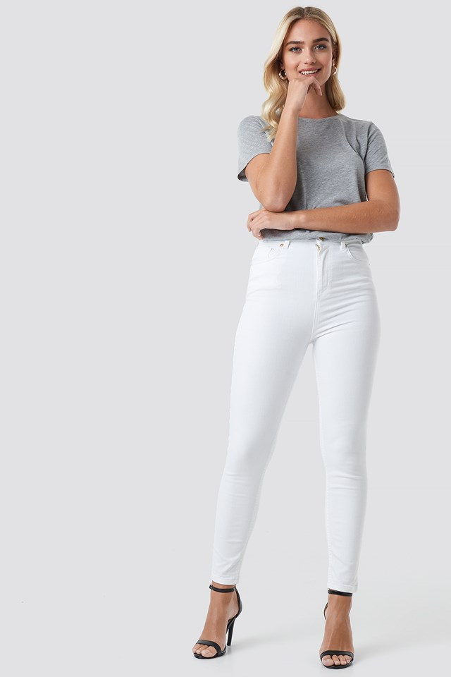 High Waist Super Skinny 5 Pocket Jeans NA-KD.COM