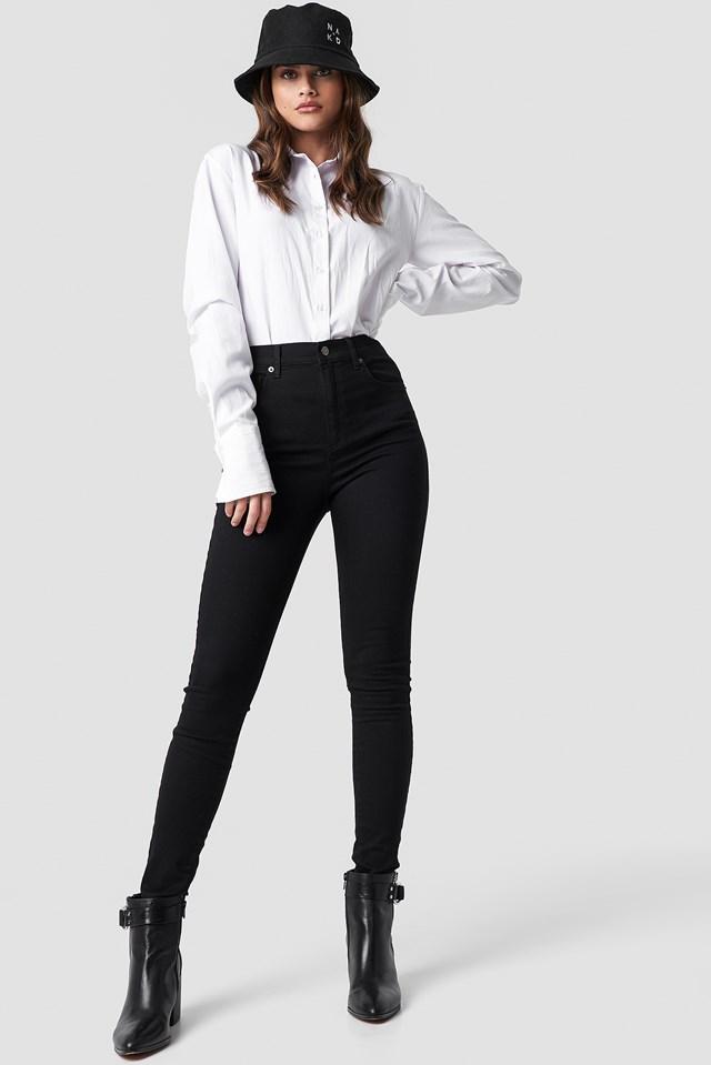 High Waist Super Skinny 5 Pocket Jeans NA-KD.COM