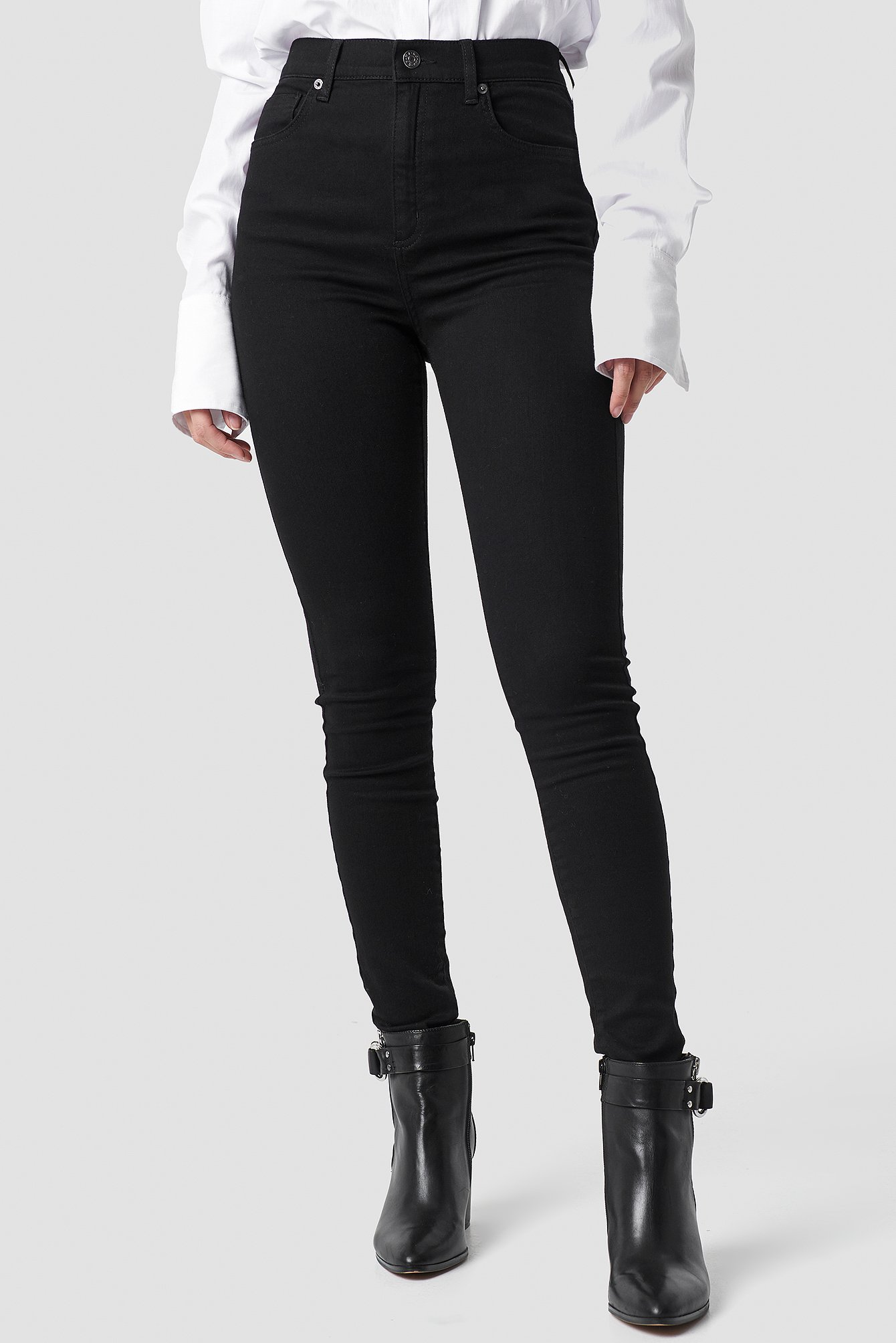 High Rise Super Skinny 5 Pocket Jeans NA-KD.COM