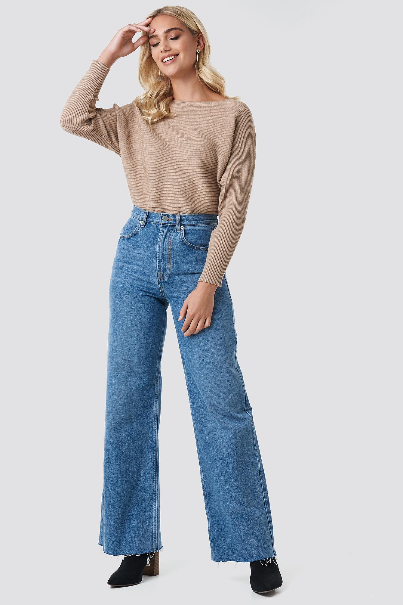High Rise Wide Leg Jeans NA-KD.COM