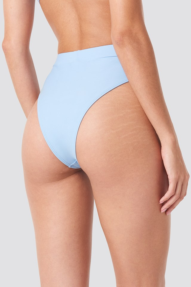 High Waist Comfy Bikini Bottom Blue
