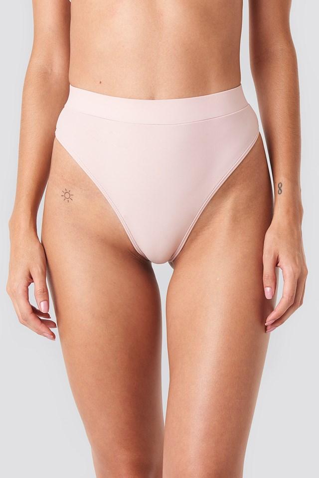 High Waist Comfy Bikini Bottom Pink