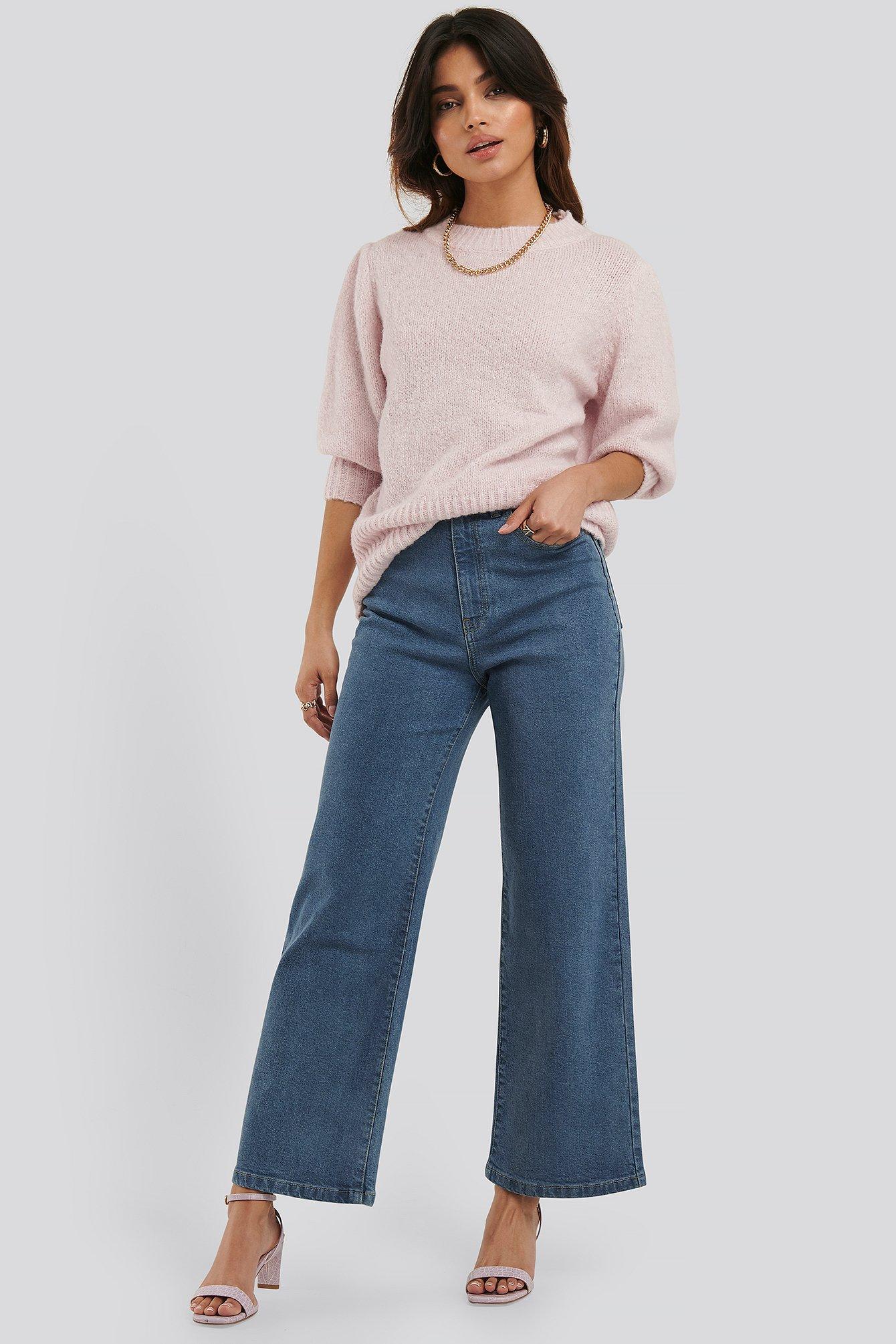 na-kd -  Culotte-Jeans - Blue