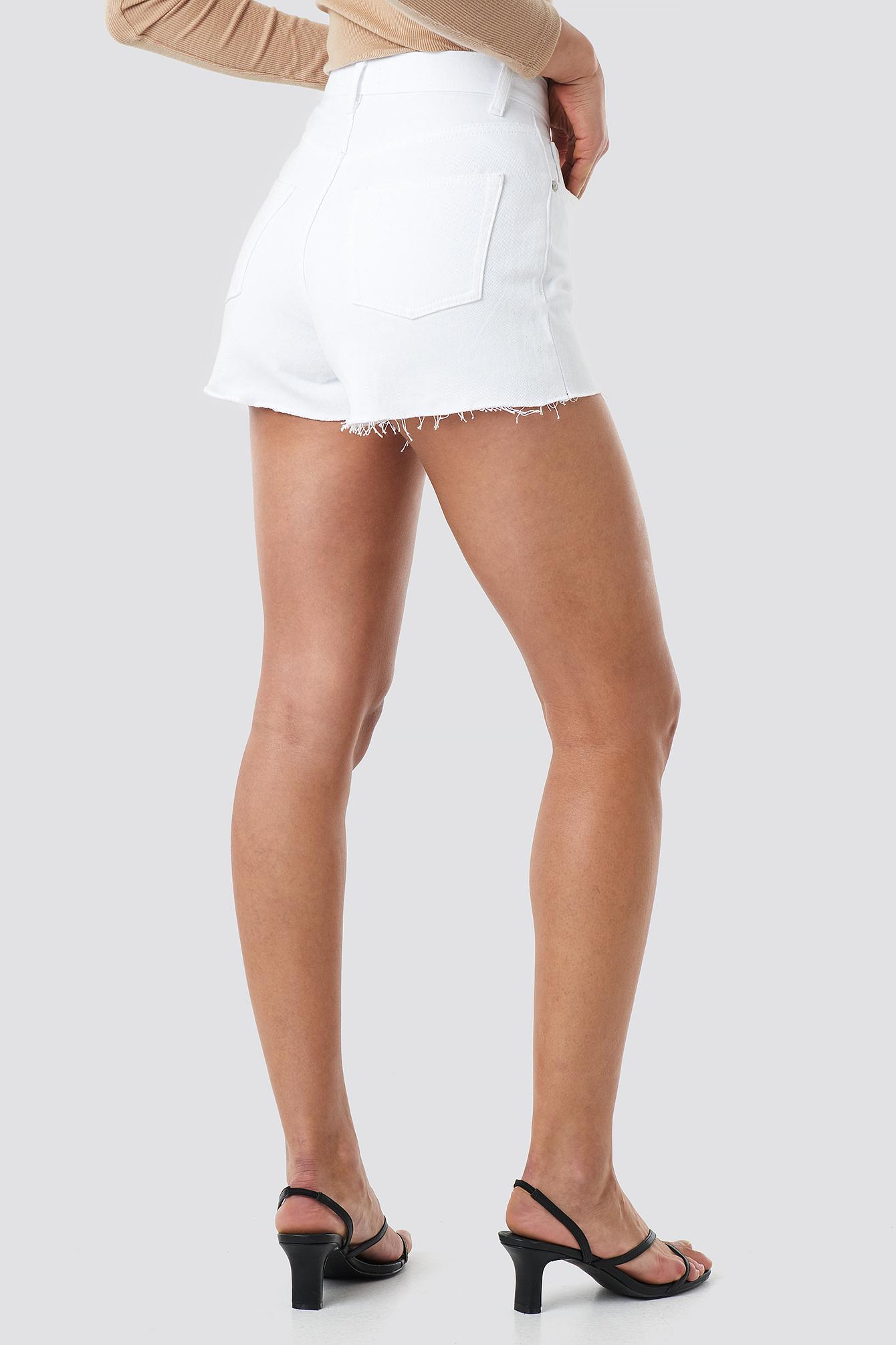 High Waist Denim Shorts NA-KD.COM