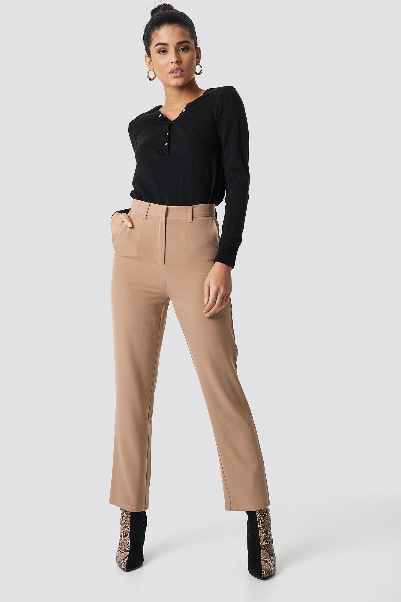 High Waist Flared Suit Pants NA-KD.COM