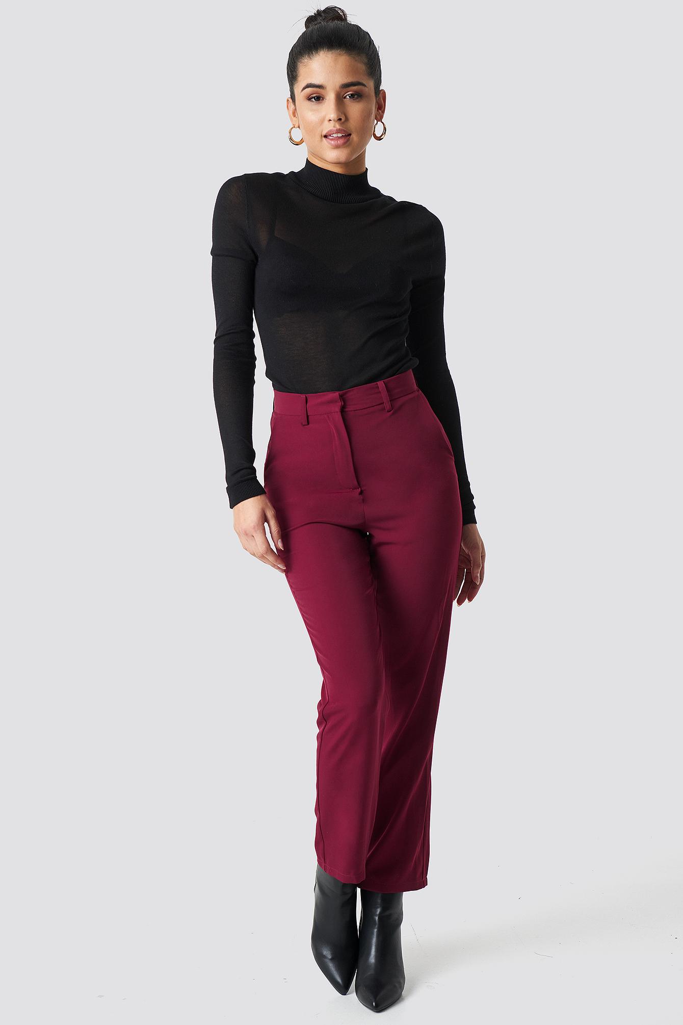 High Waist Suit Trousers NA-KD.COM