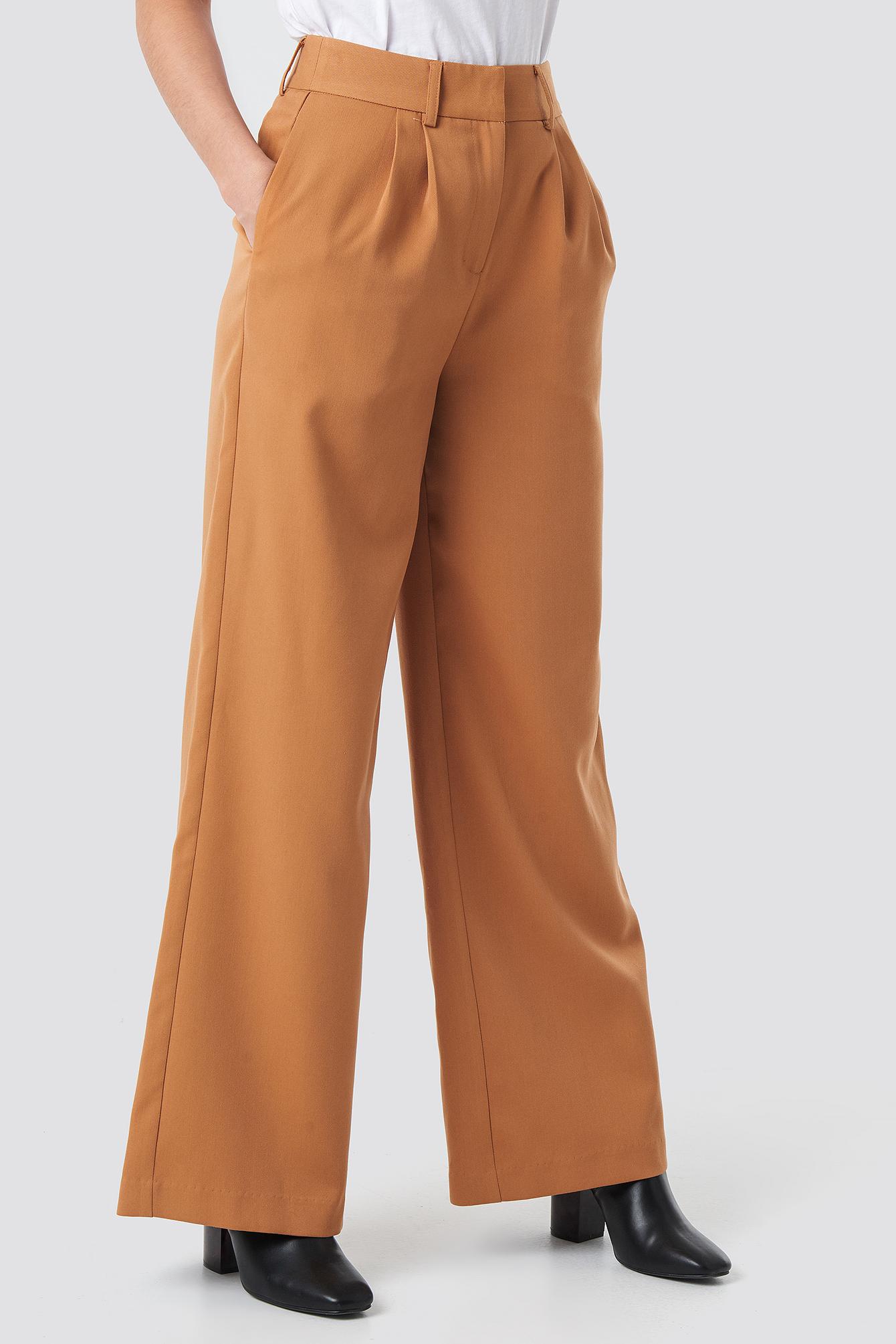 High Waist Flared Suit Pants NA-KD.COM