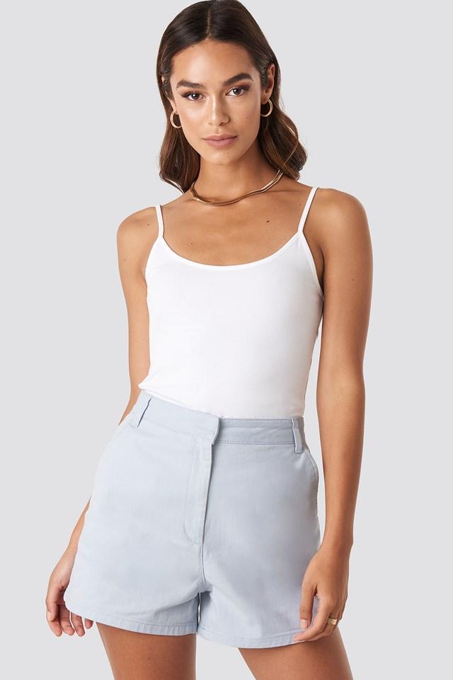 High Waist Shorts Blue
