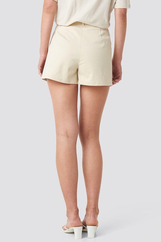 High Waist Shorts Sand