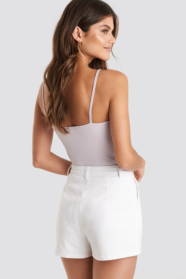 High Waist Shorts White