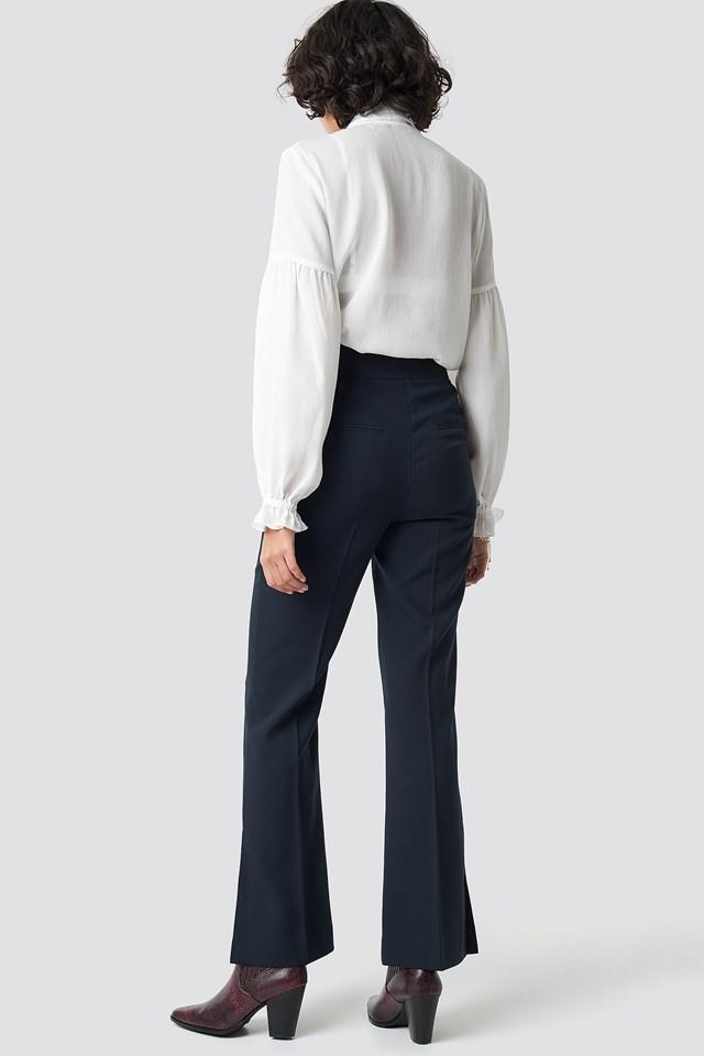 High Waist Slit Suit Pants NA-KD.COM