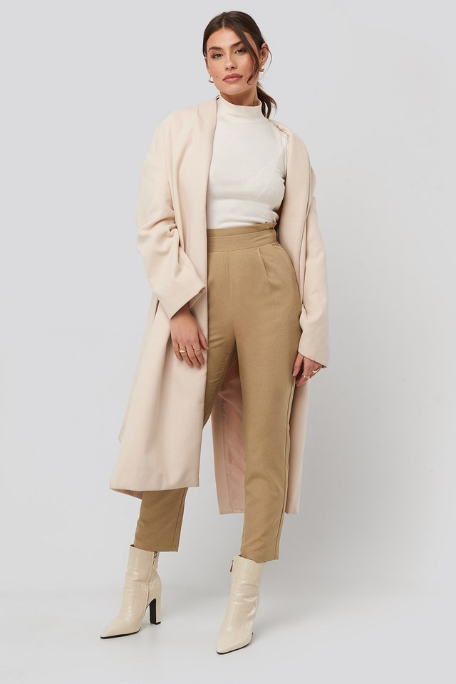 High Waist Straight Pants NA-KD