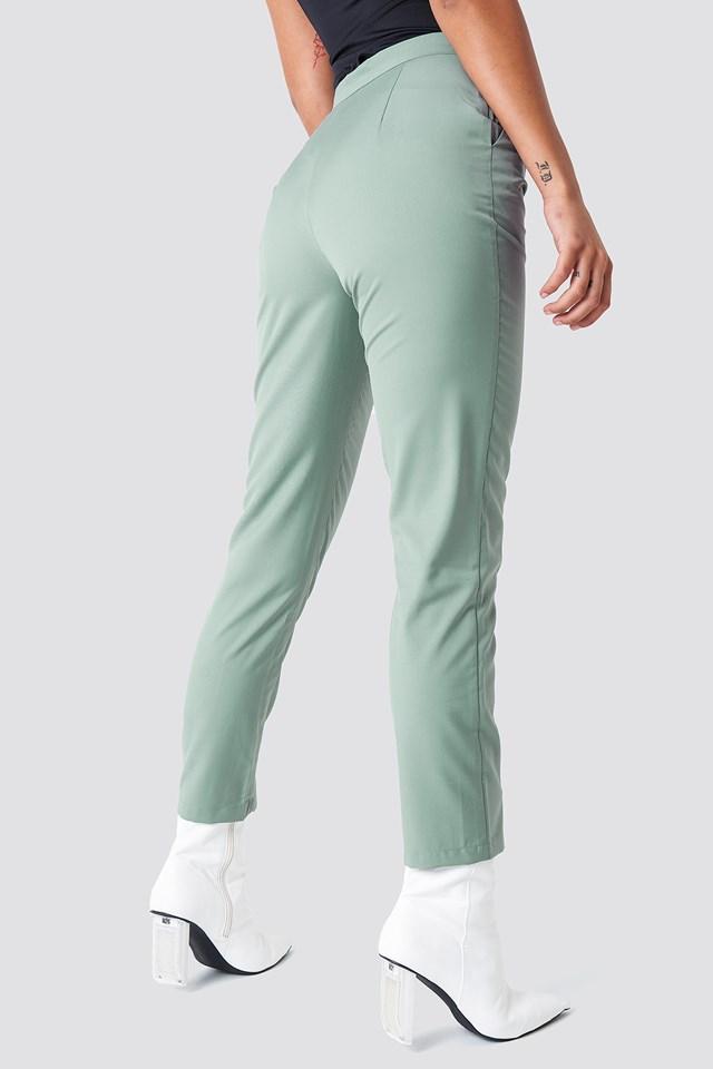 High Waist Suit Pants Duck Green