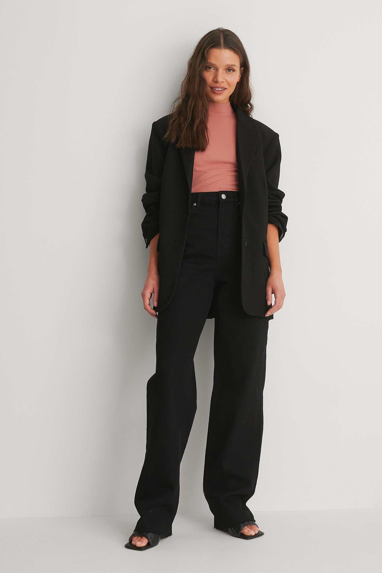 Black High Waist Wide Leg Long Jeans