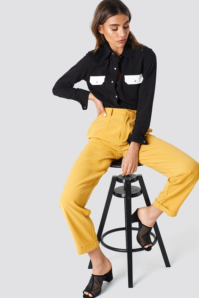 High Waist Wide Leg Pants NA-KD Trend