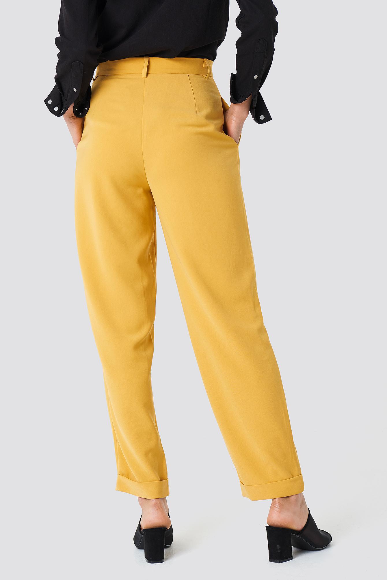 High Waist Wide Leg Pants NA-KD.COM