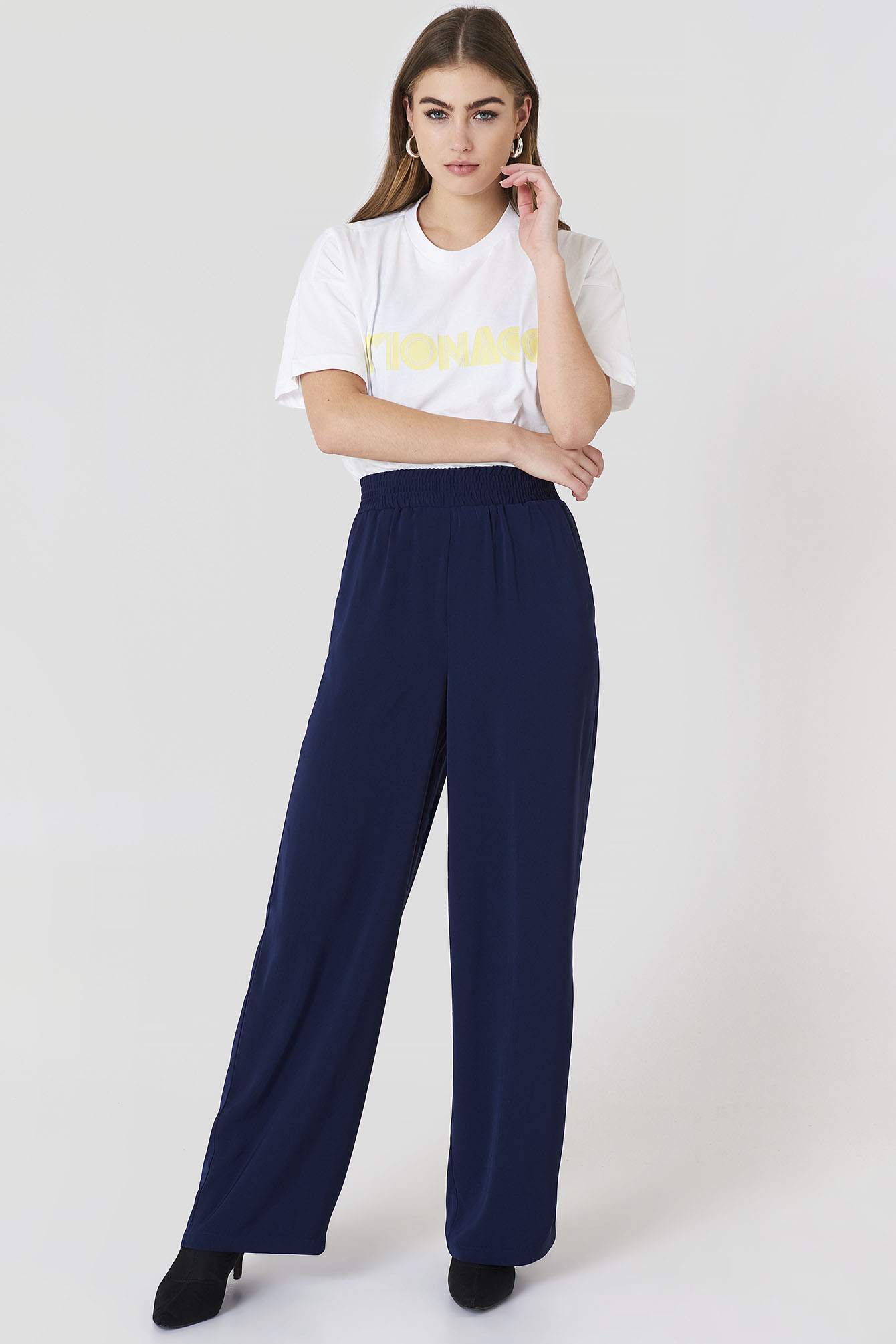 High Waist Wide Pants NA-KD.COM