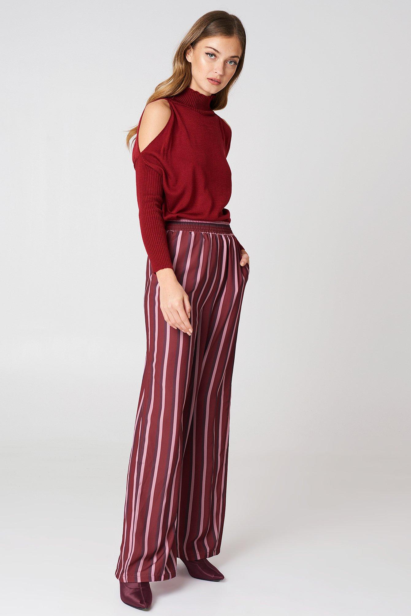 Szerokie spodnie z wysokim stanem NA-KD.COM