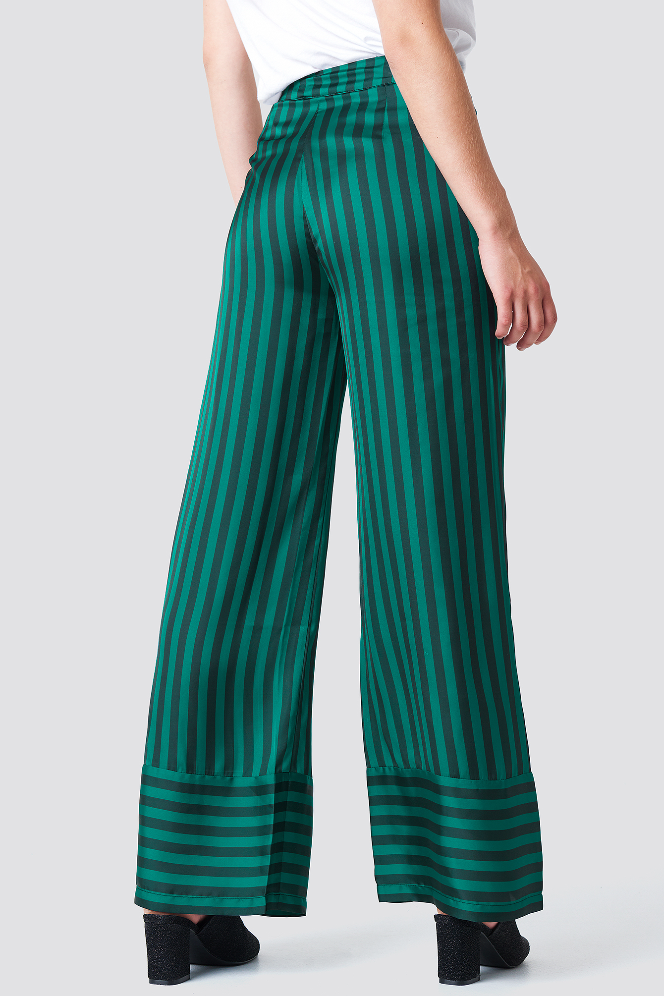High Waist Wide Striped Pants NA-KD.COM