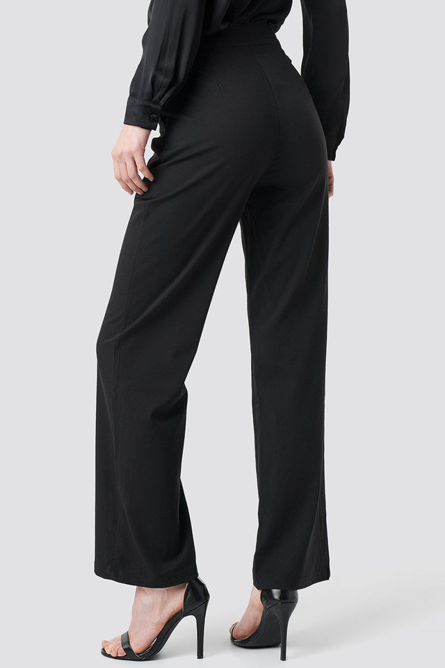 High Waist Zip Detail Pants NA-KD.COM