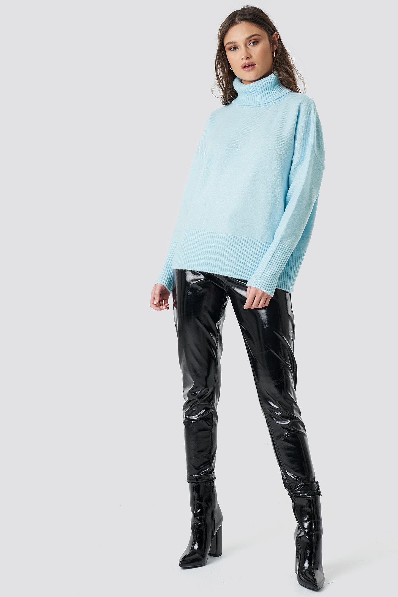 Highneck Wide Rib Long Sweater NA-KD.COM