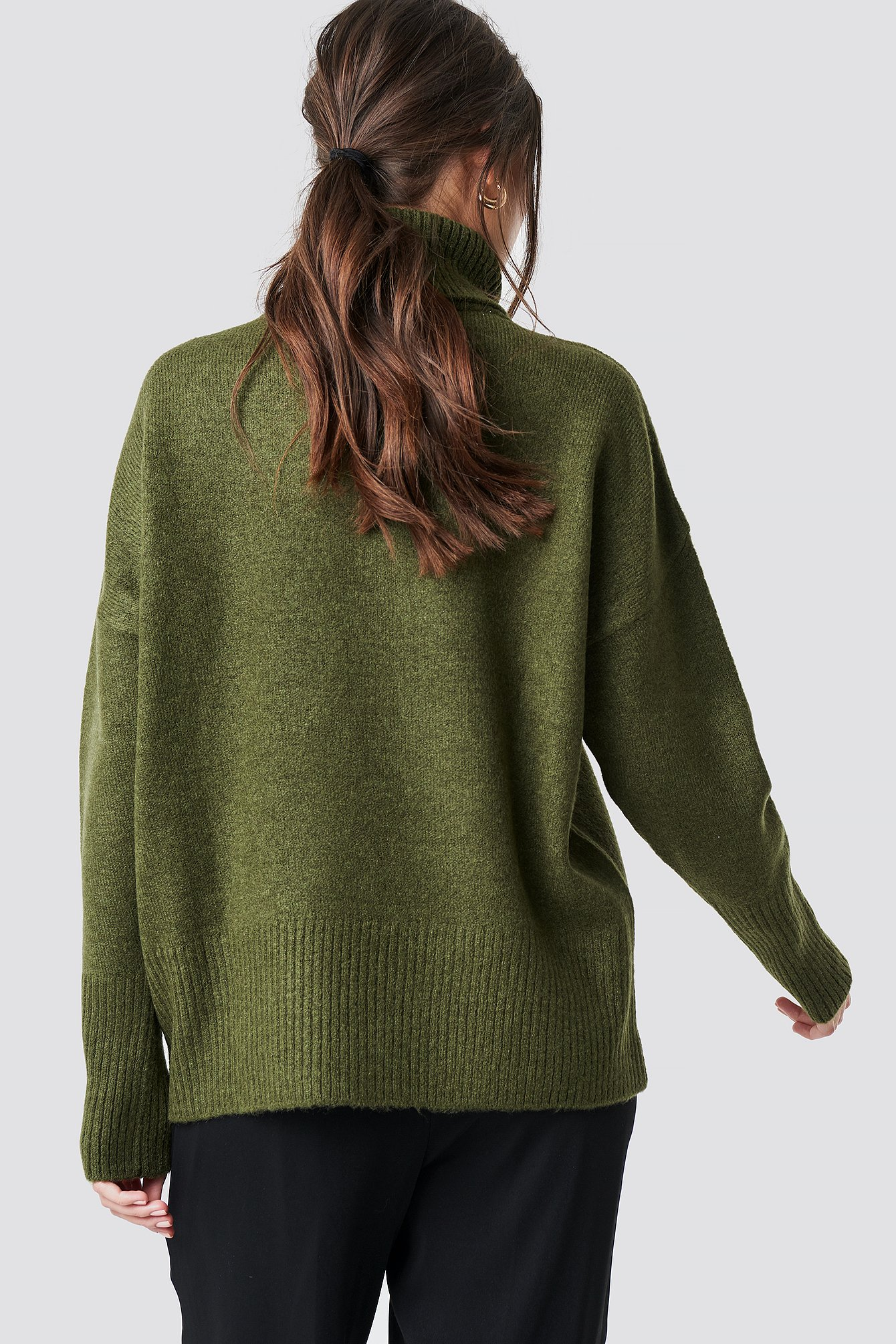 Highneck Wide Rib Long Sweater NA-KD.COM