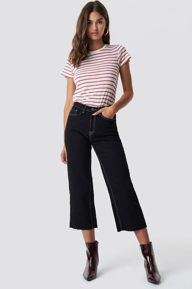 Highwaist Denim Culotte NA-KD Trend
