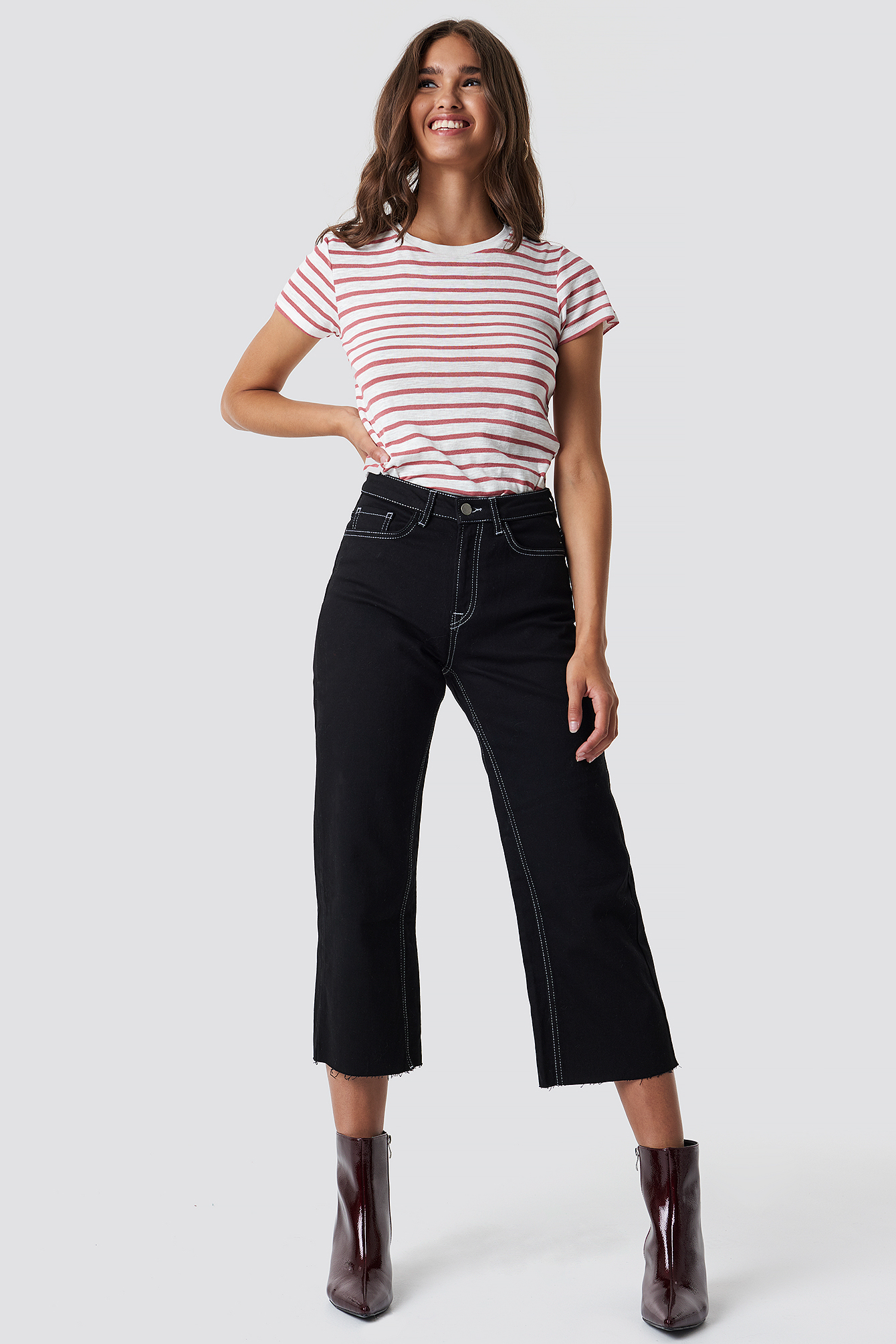 Highwaist Denim Culotte NA-KD.COM