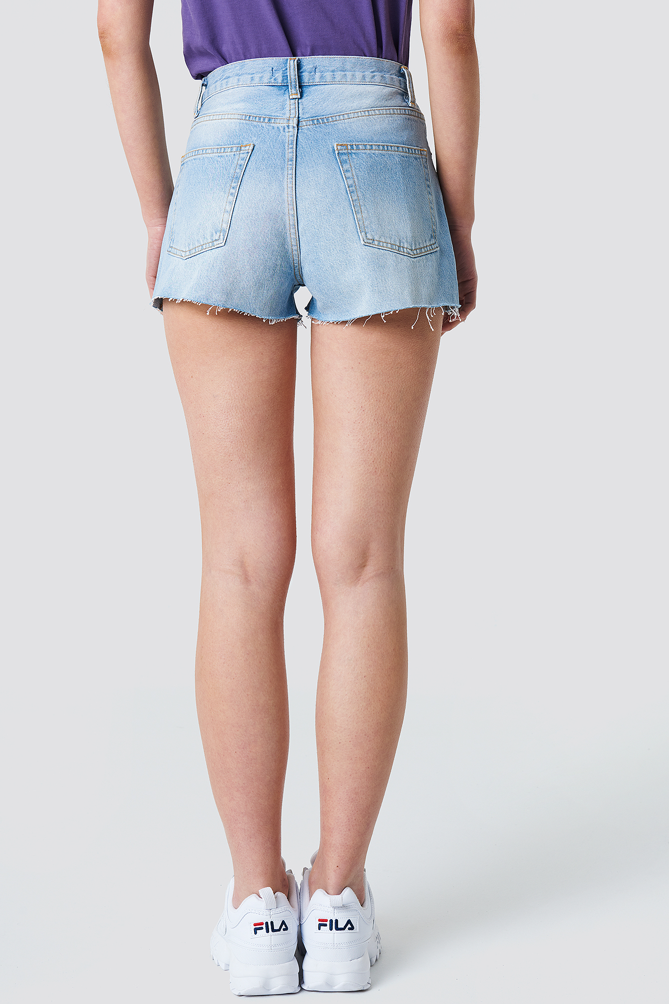 Highwaist Destroyed Denim Shorts NA-KD.COM