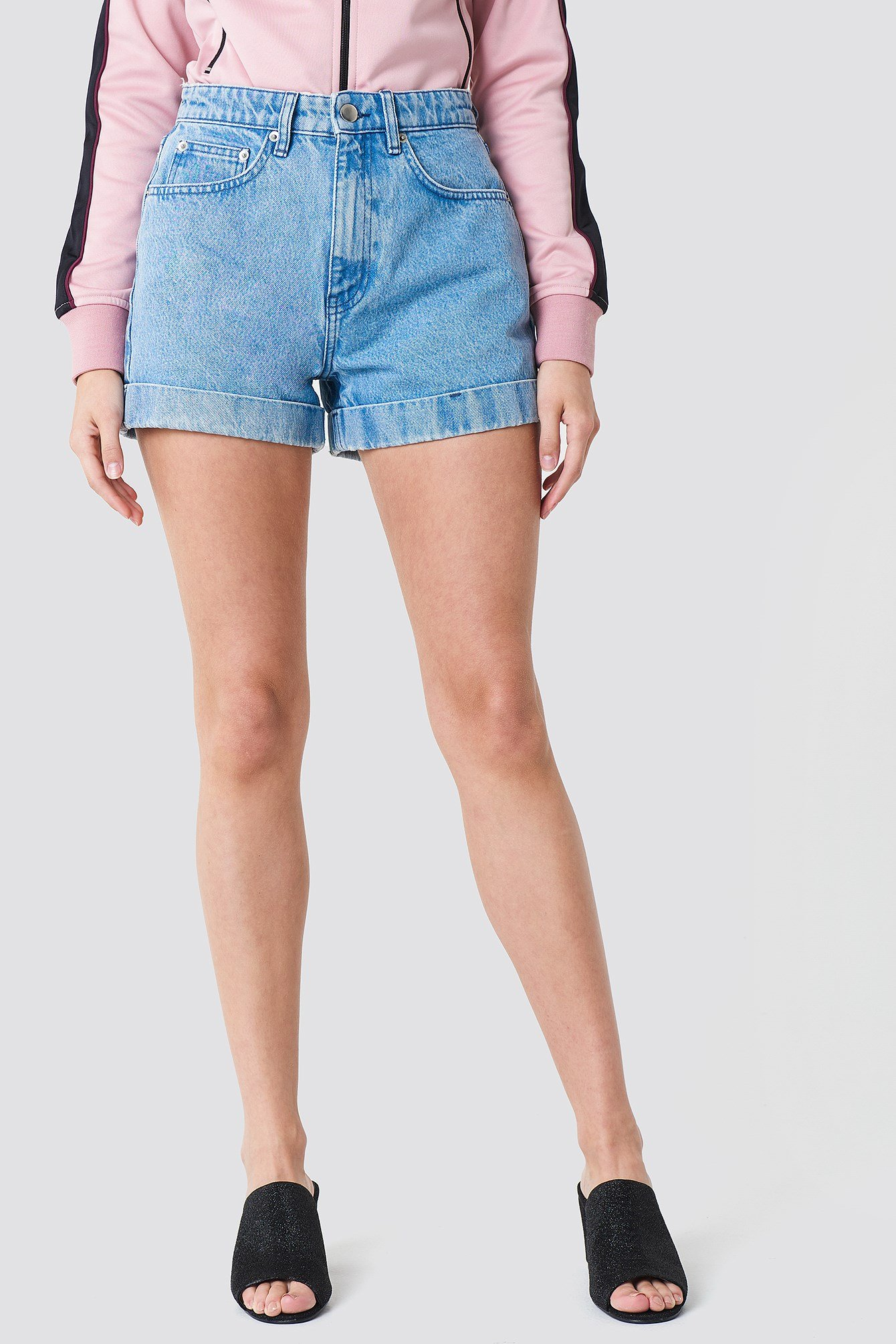 Highwaist Folded Denim Shorts NA-KD.COM