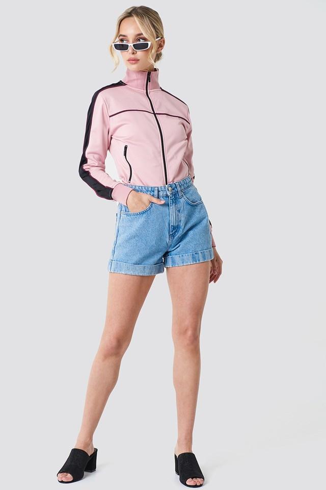 Highwaist Folded Denim Shorts NA-KD.COM