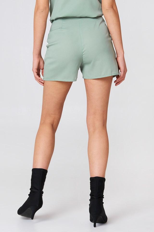 Highwaist Shorts Dusty Green