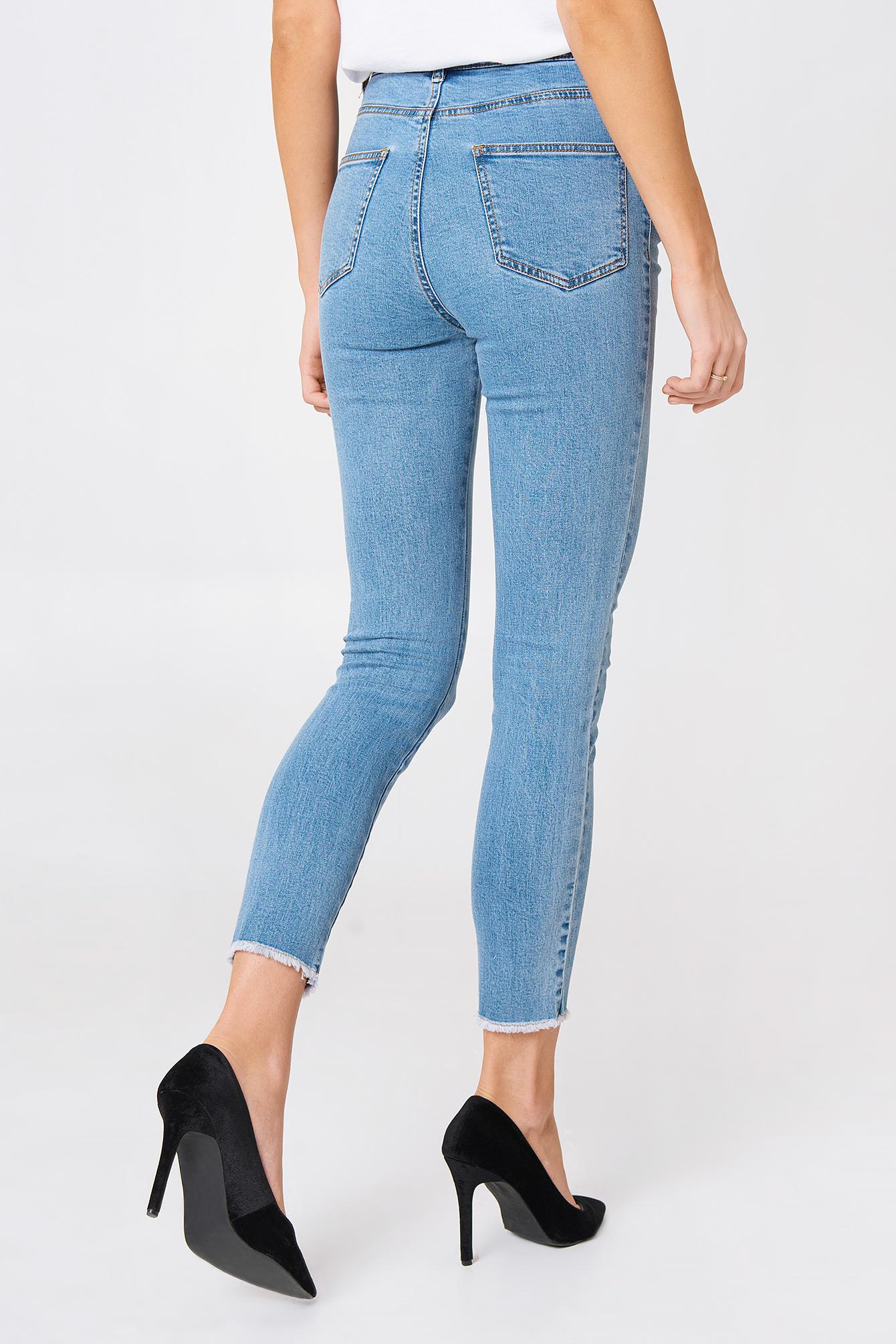Jeansy z wysokim stanem NA-KD.COM