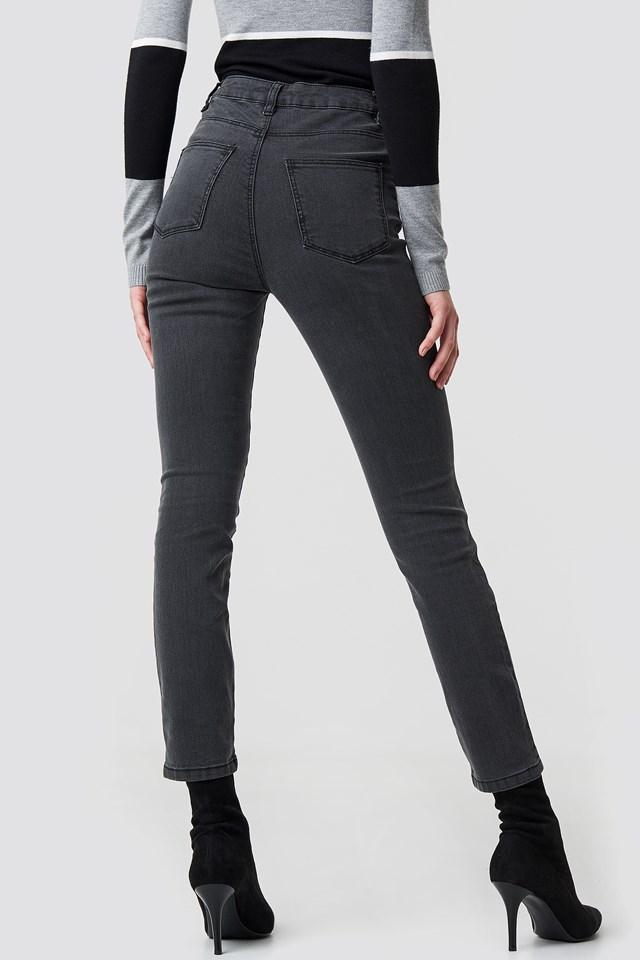 Highwaist Skinny Jeans Grey