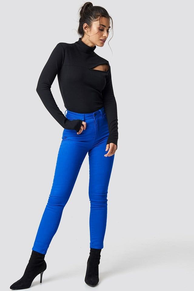 Highwaist Skinny Jeans Cobolt
