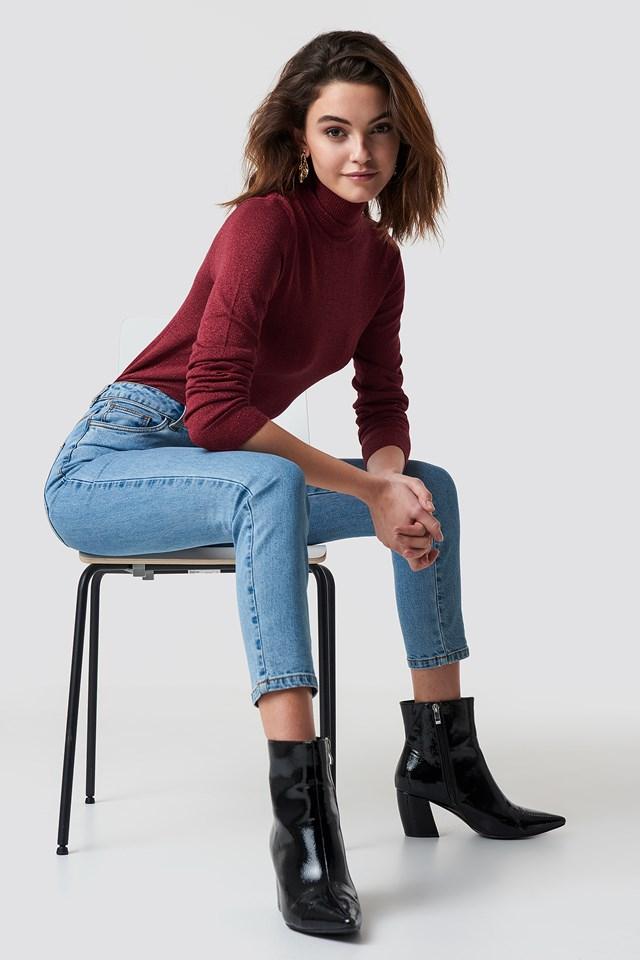 Highwaist Skinny Jeans NA-KD