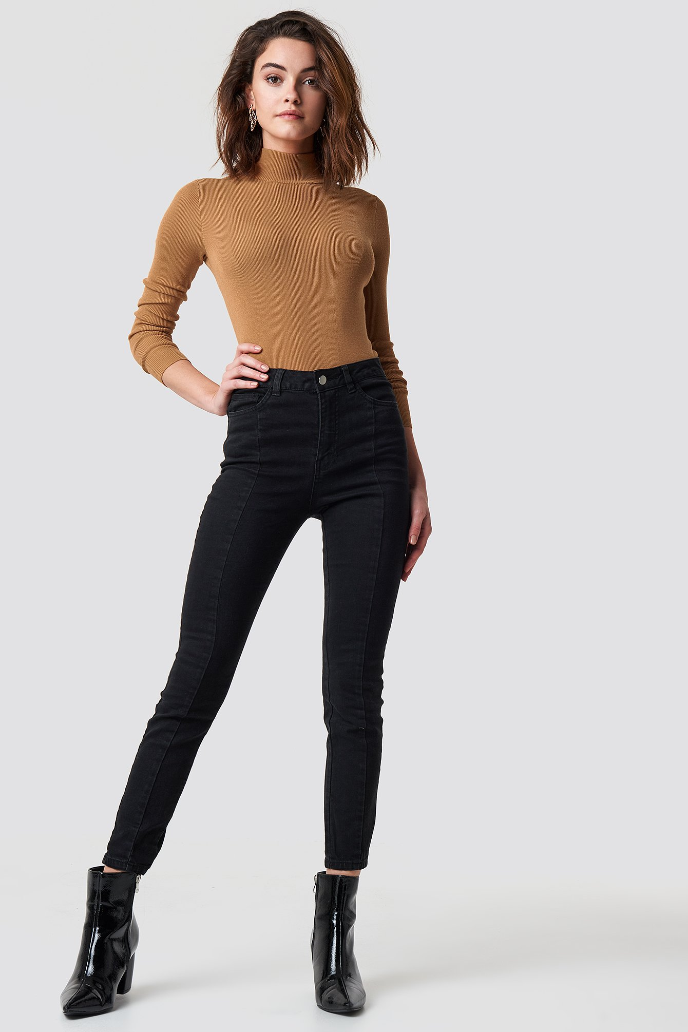 Highwaist Skinny Panel Jeans NA-KD.COM