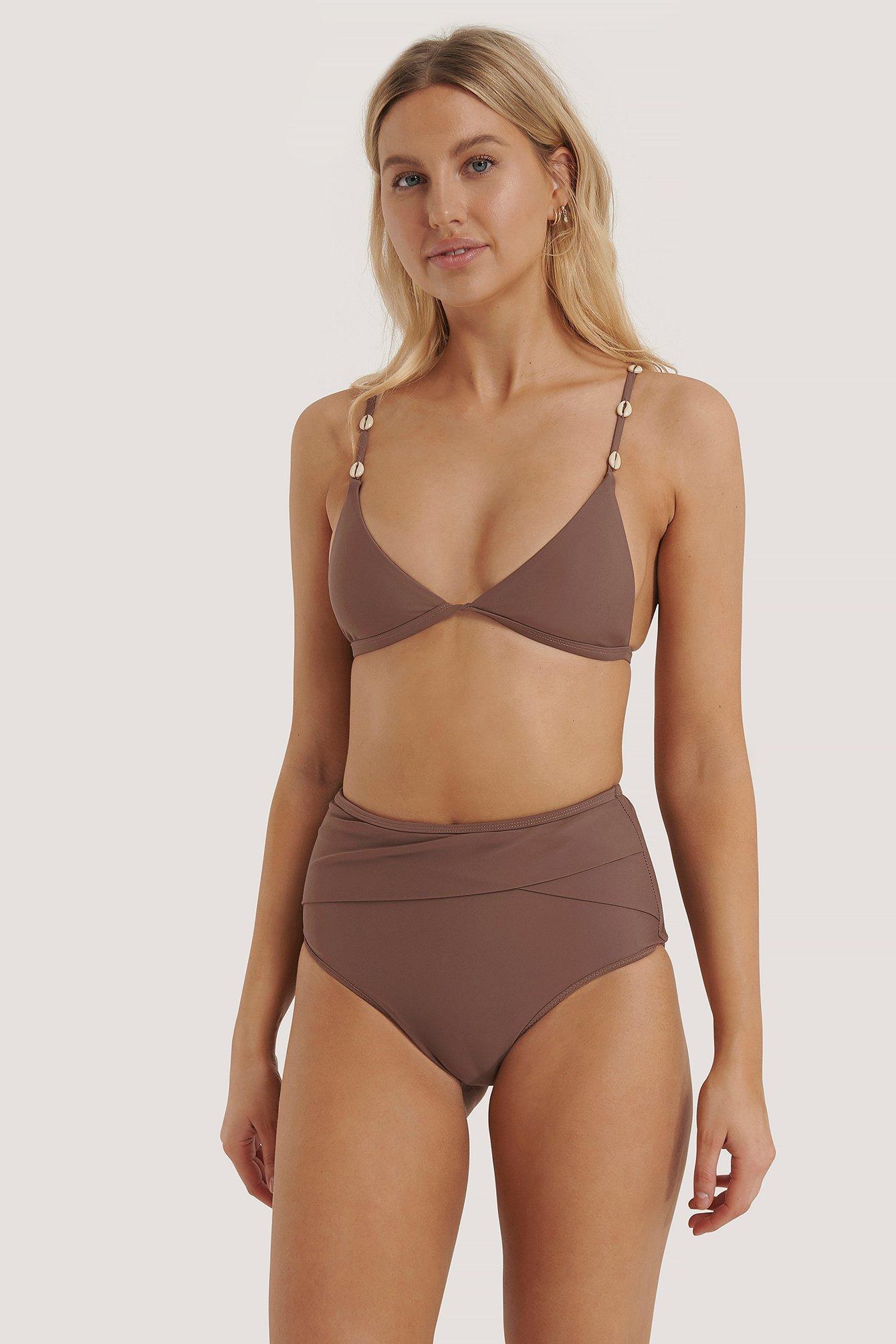 NA-KD Swimwear Bikini-Höschen Mit Hoher Taille - Purple | Bekleidung > Bademode > Bikinis | NA-KD Swimwear