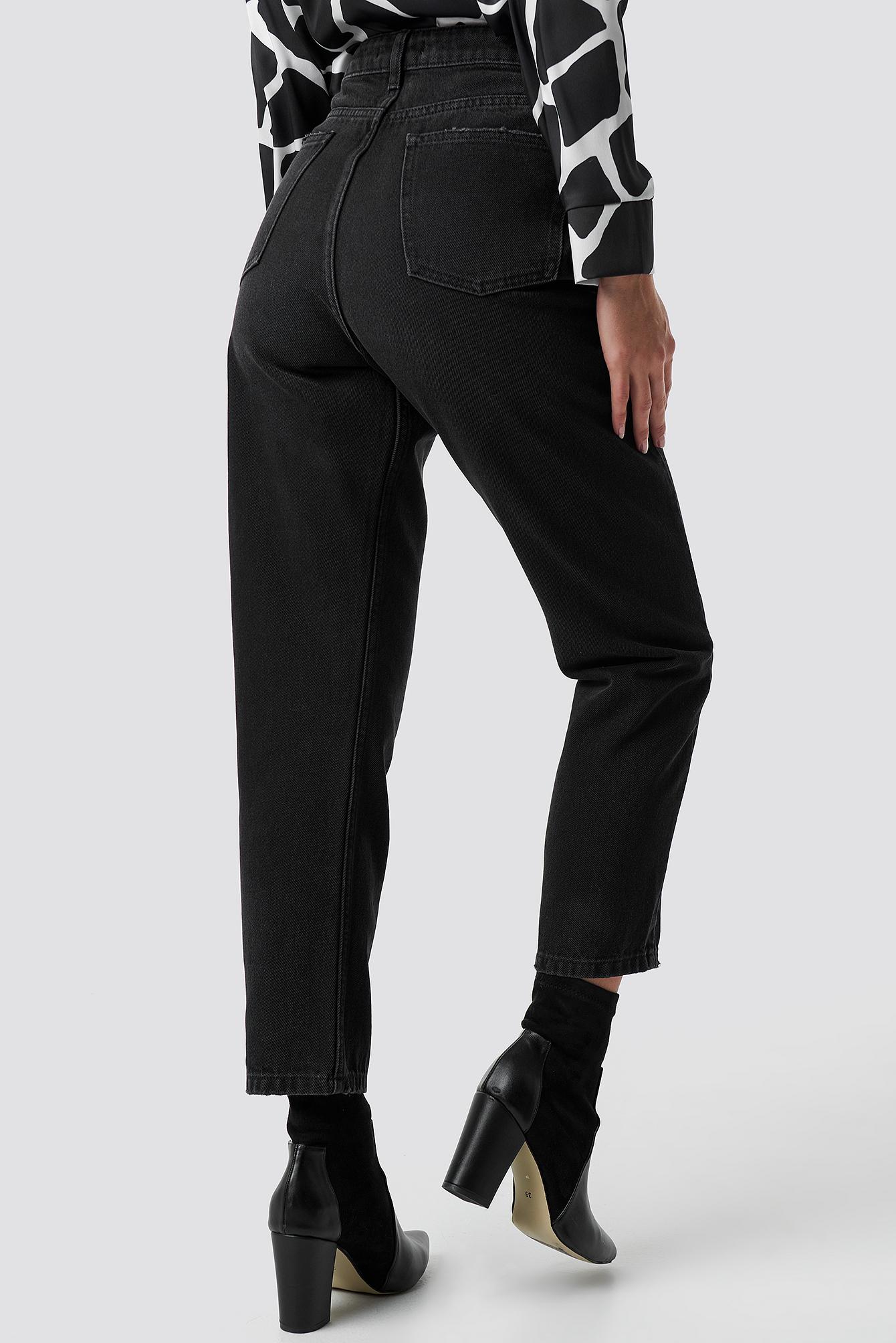 High Waist Straight Jeans NA-KD.COM