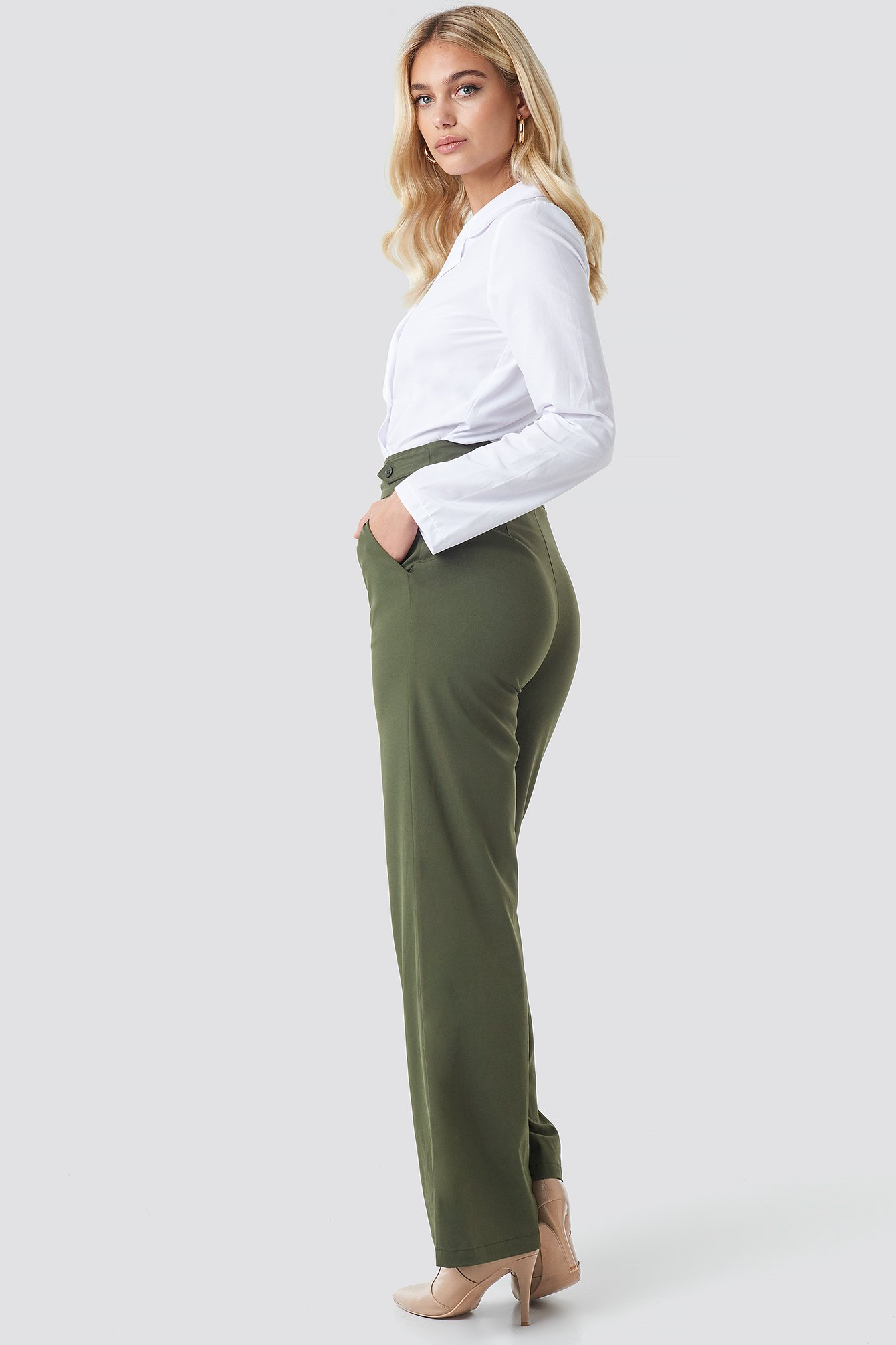 Highwaisted Wide Leg Pants NA-KD.COM