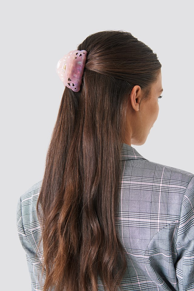 Holographic Detail Hair Clip Light Pink