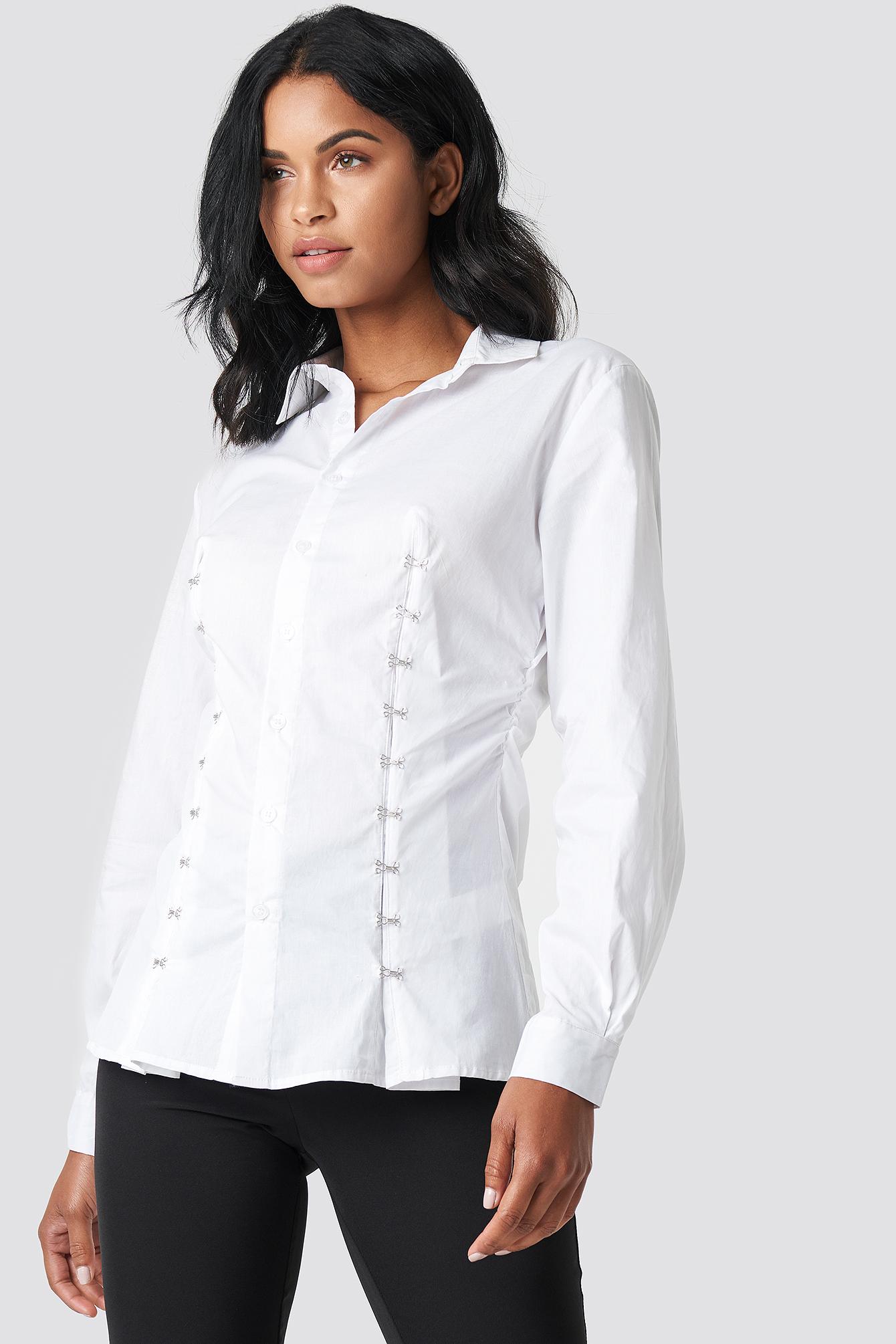 Koszula z haftkami NA-KD.COM