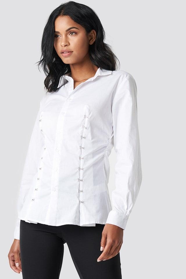 Hook And Eye Shirt White