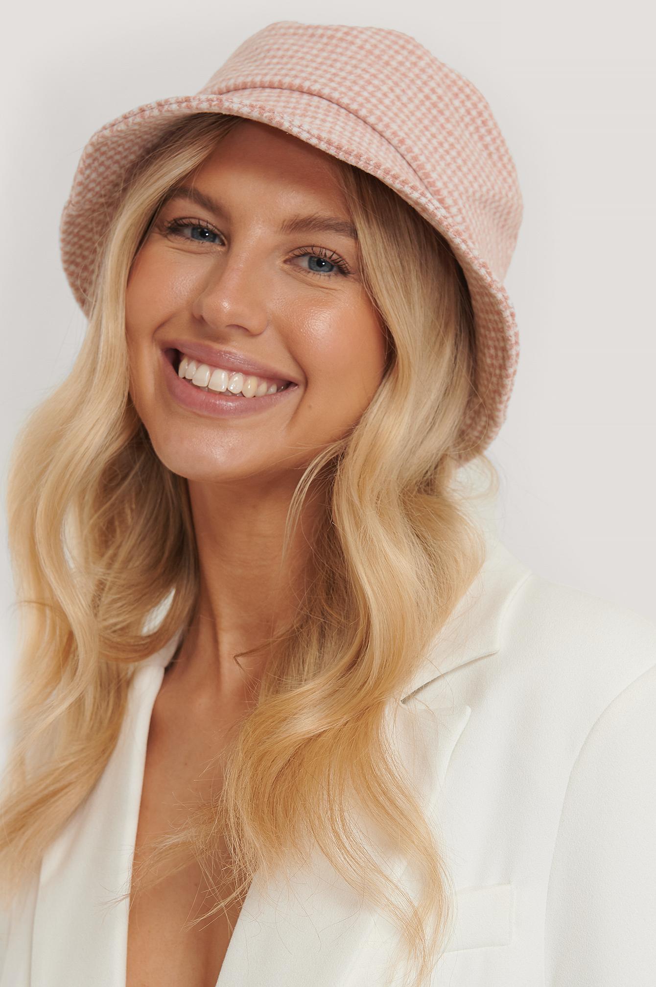 na-kd accessories -  Fischerhut Mit Strukturiertem Muster - Pink