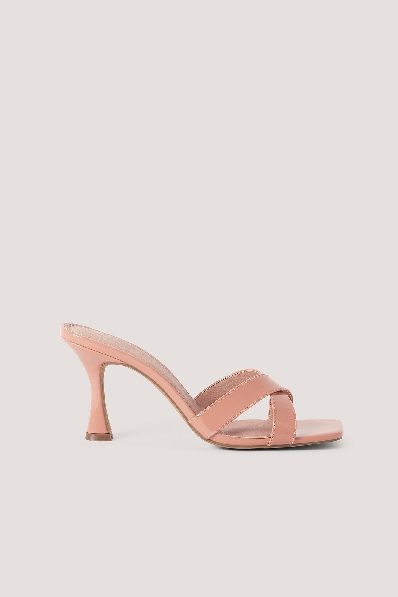 na-kd shoes -  Stiletto-Pantoffeln Mit Eckiger Zehenpartie - Pink