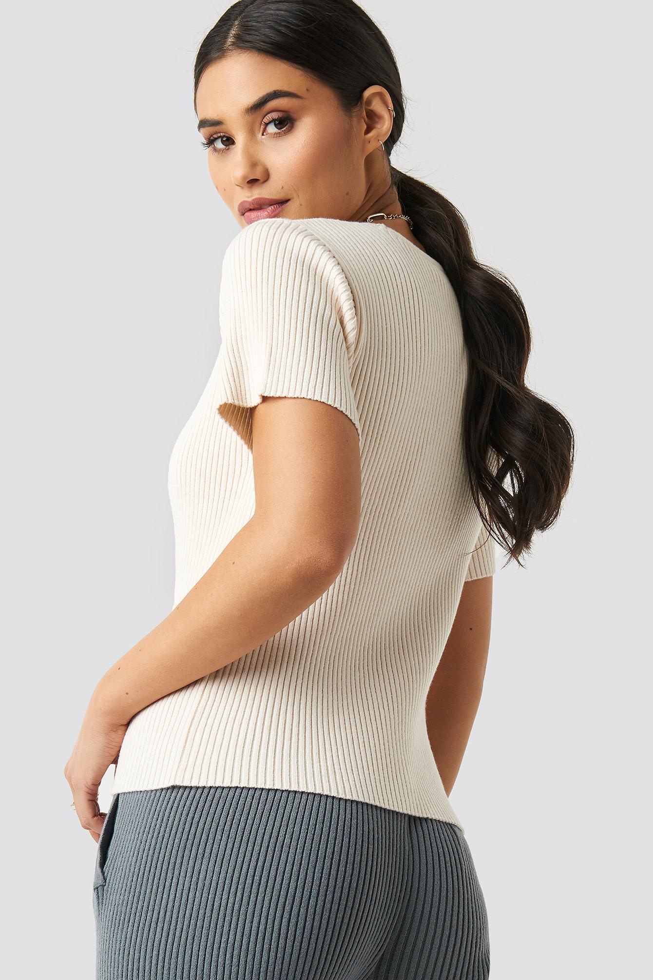 Hudson Rib Knitted Tee NA-KD.COM