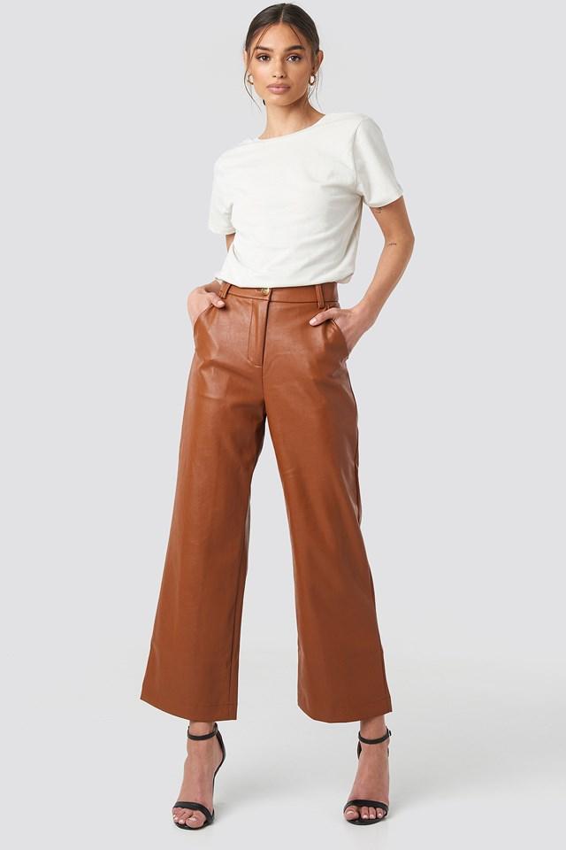 Wide Leg PU Pants NA-KD Trend