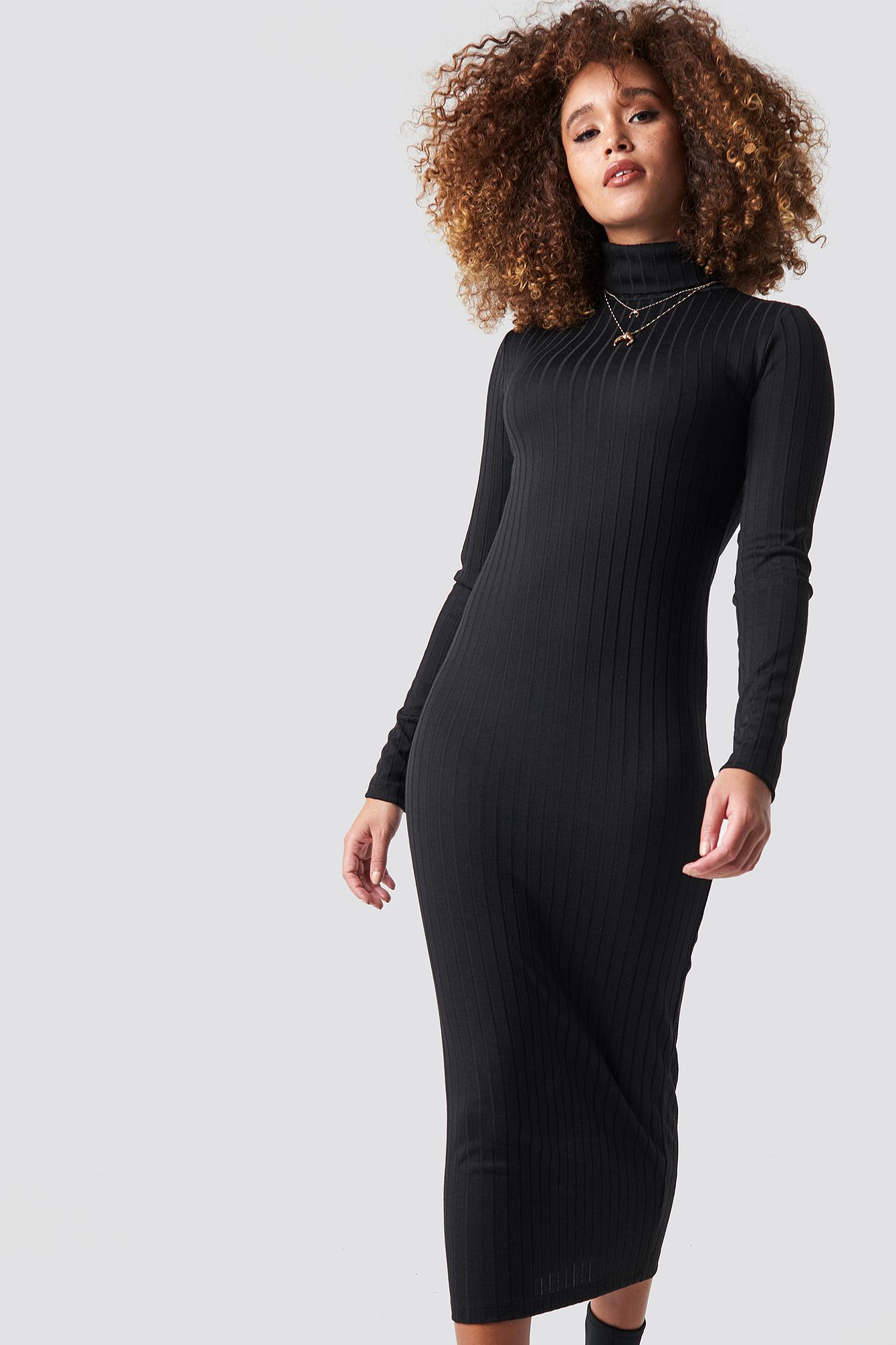 Ribbed Polo Dress NA-KD.COM